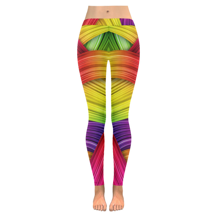 Colorful Silk Leggings - Leggings - Happy Vibe Store