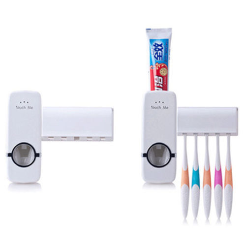 Toothpaste Dispenser Automatic with 5 Toothbrush Holds