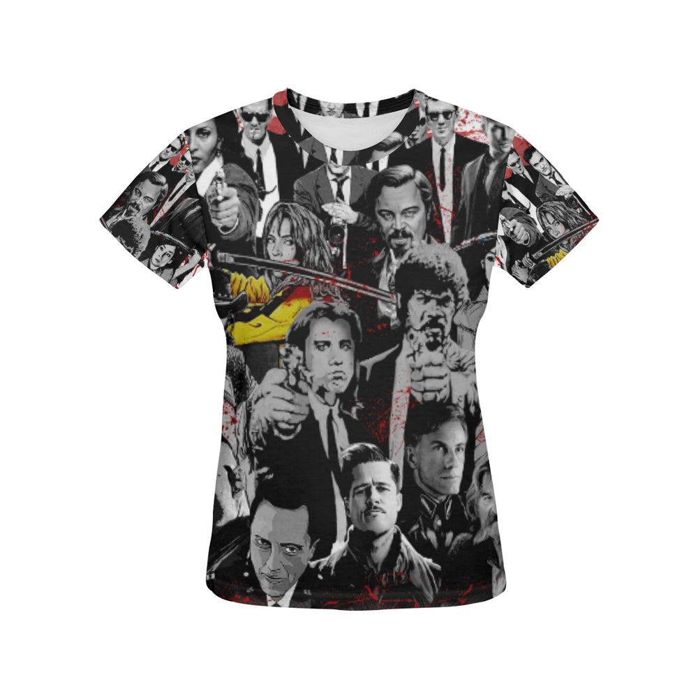 Quentin's Movies Characters Shirt for Women
