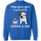 Dog gift idea Bulldog & Coffee T-Shirt - Standard Fleece Sweatshirt