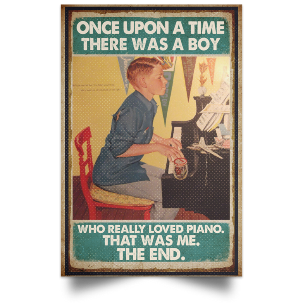 PIANIST A BOY WHO REALLY LOVED PIANO VERTICAL POSTER