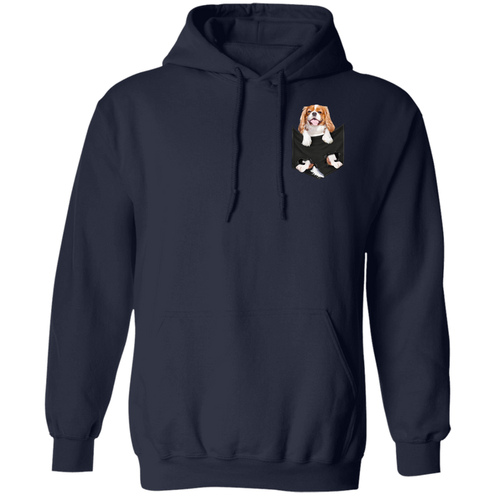 Dog gift idea Dog In Pocket Cavalier King Charles Spaniels T-Shirt - Standard Hoodie
