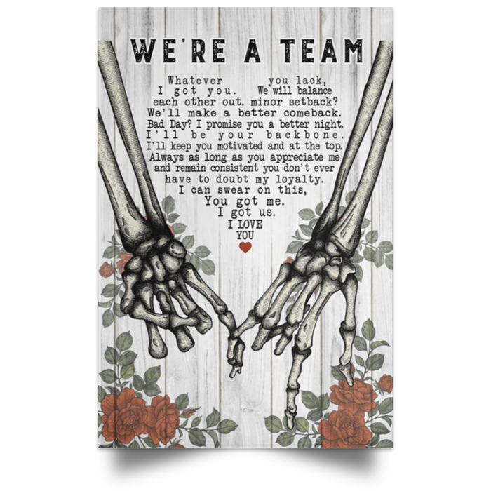 Family We're A Team Vertical Poster