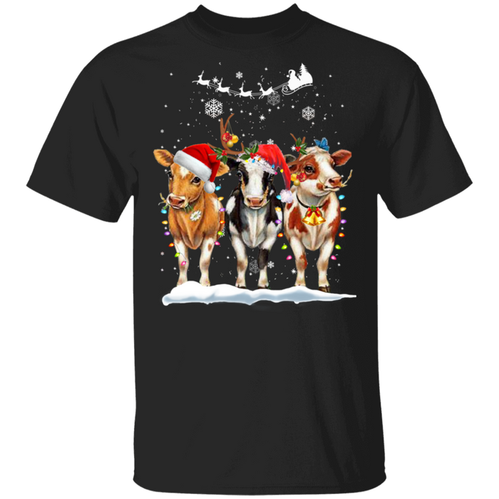 Cow Christmas T-shirt
