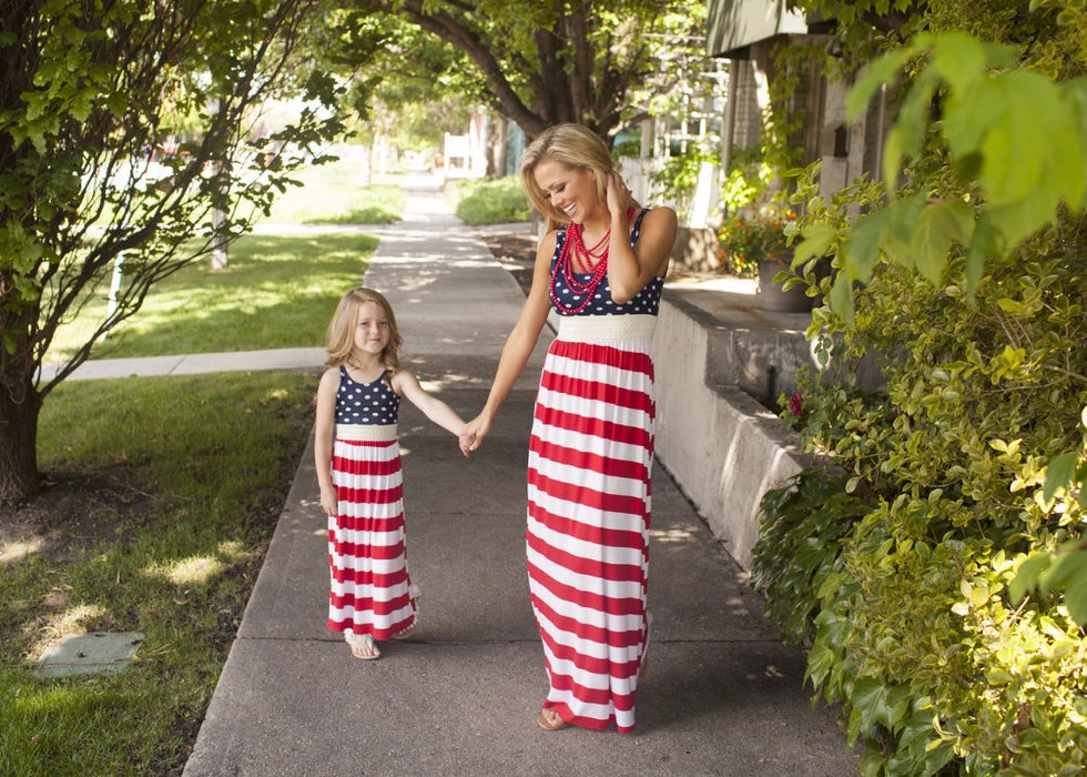 American Flag Striped Dress