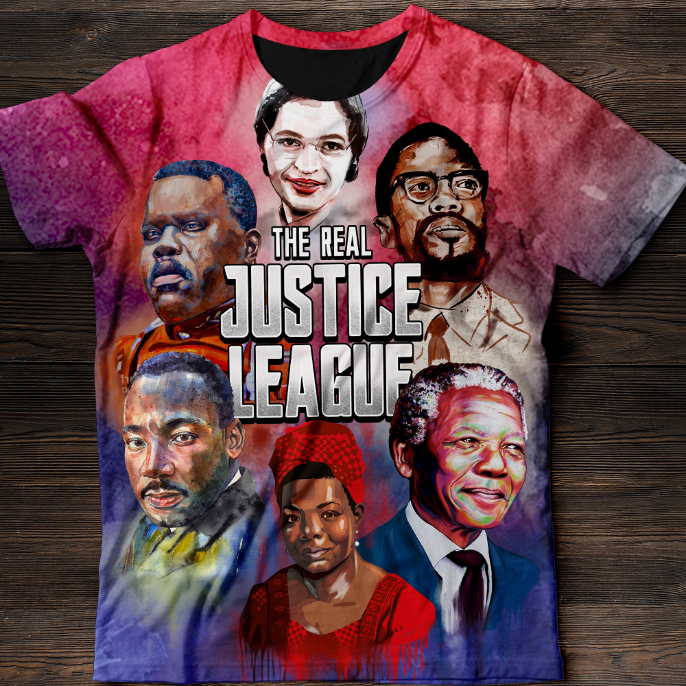 BLACK LEADERS ALL OVER PRINT SHIRT
