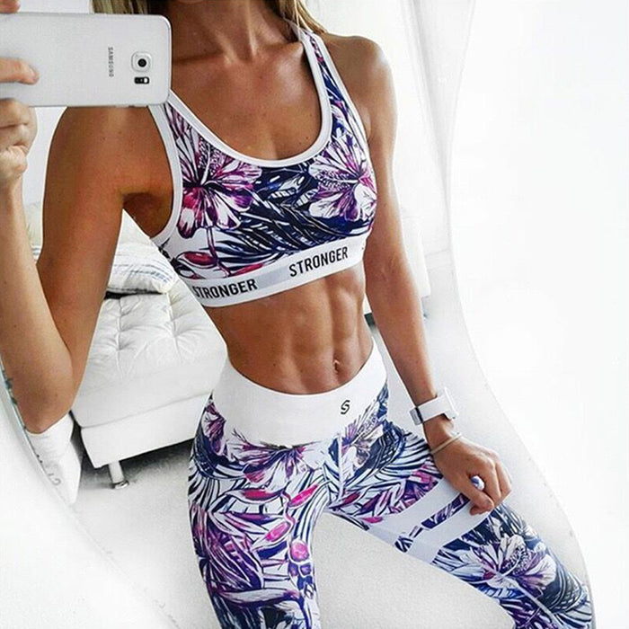 Floral Printed Sport Clothing Set