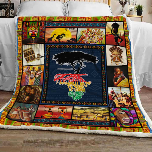 Black Roots - Fleece Blanket
