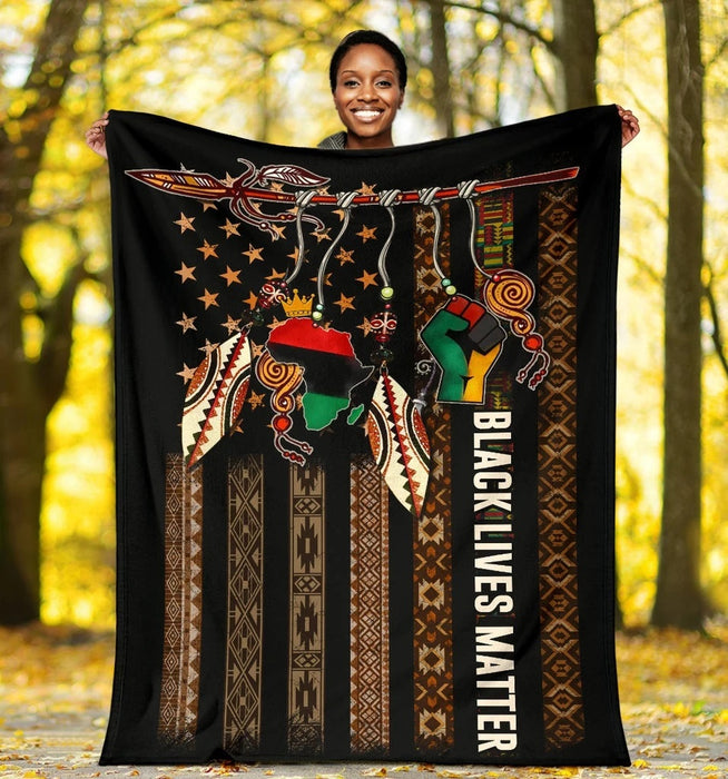 Black Lives Matter- Fleece Blanket