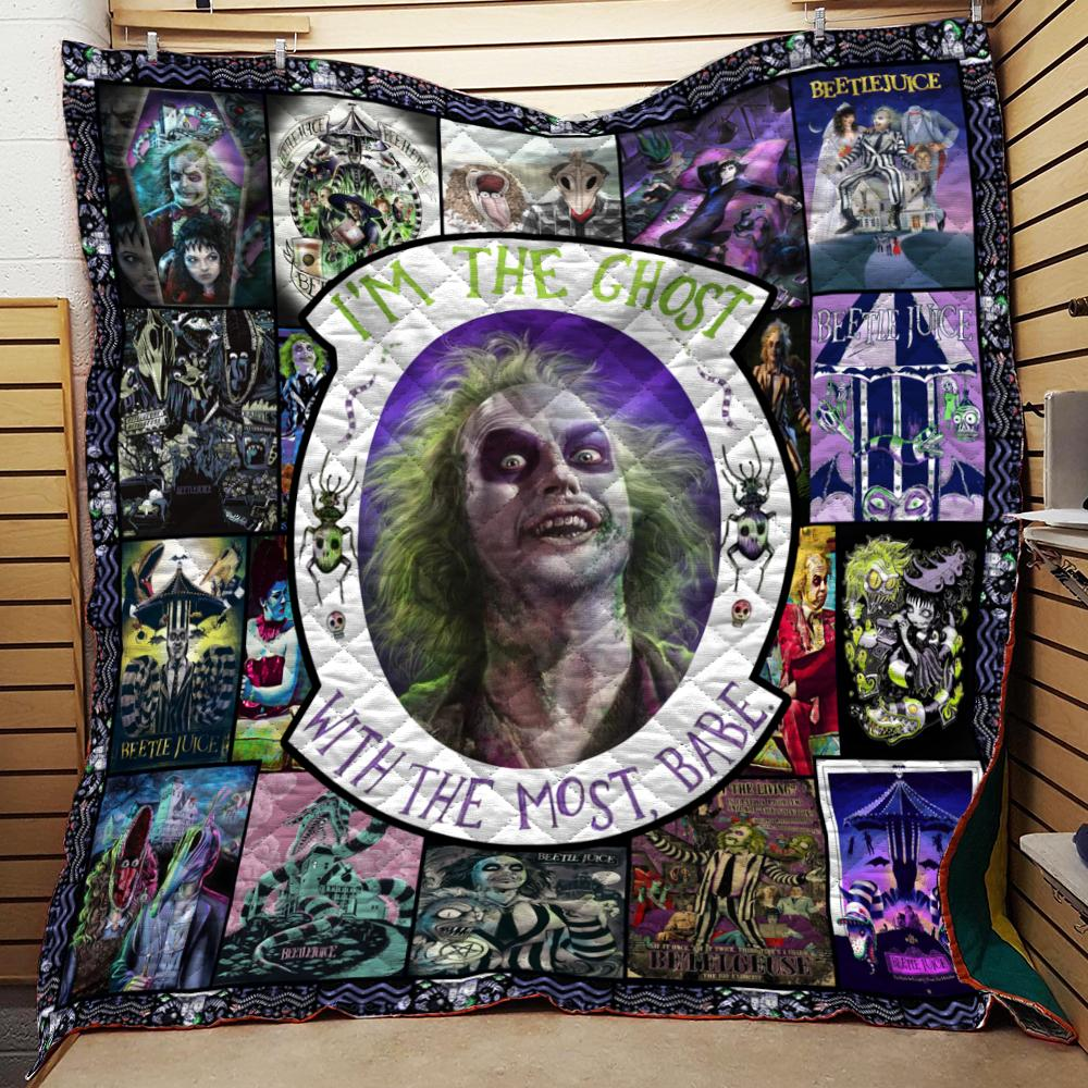 BEETLEJUICE COLLAGE QUILT