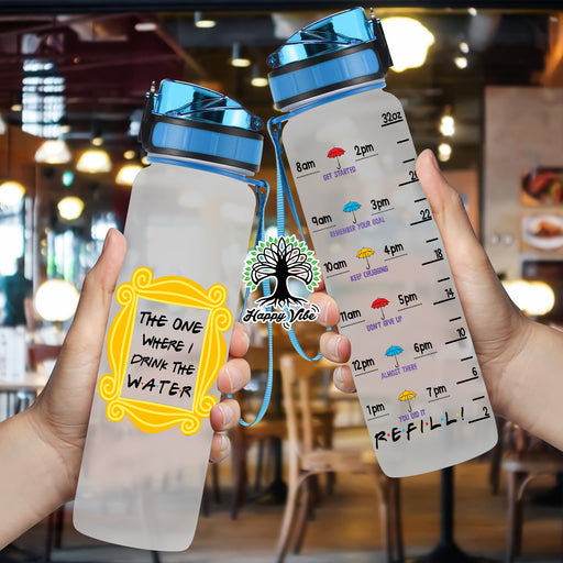 F.R.I.E.N.D.S RD Water Tracker Bottle
