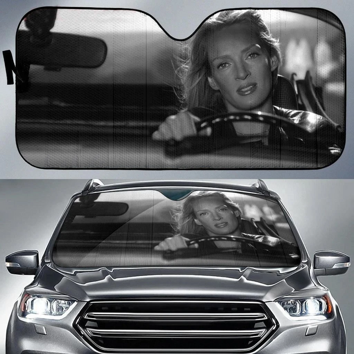 The Bride In Car Kill Bill Vintage Car Sunshade