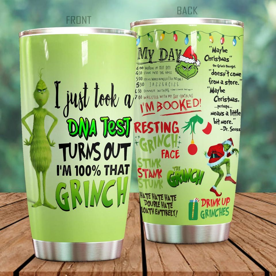Grinch DNA Christmas Tumbler 203320