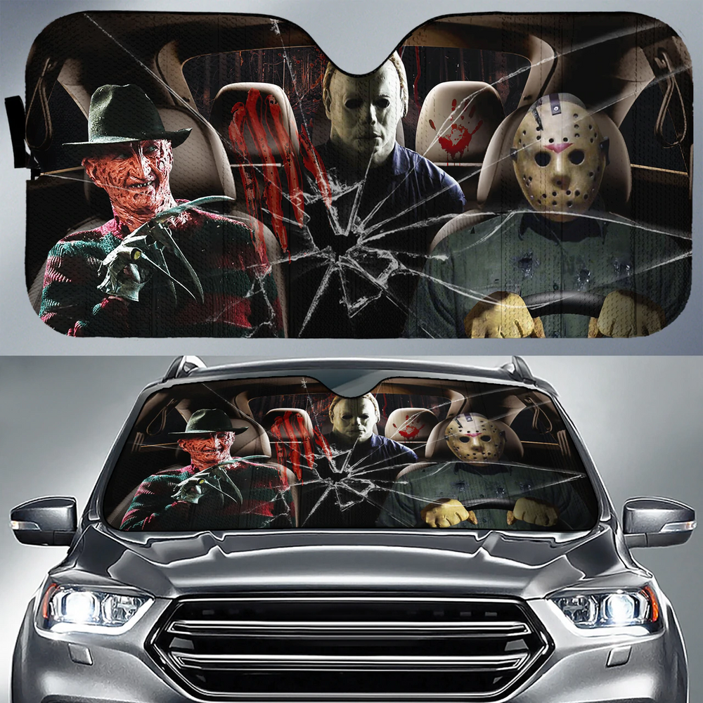 Horror Car Sunshade V2
