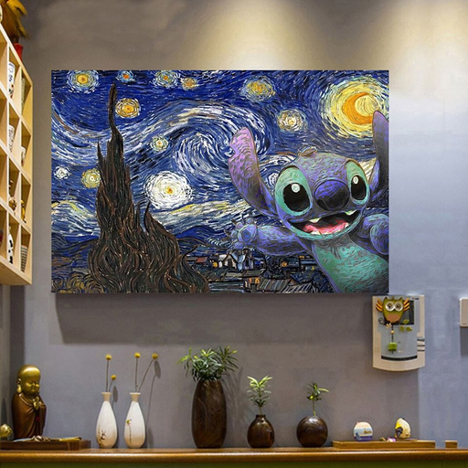 Stitch Starry Night Poster