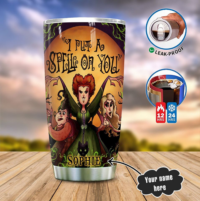 I PUT A SPELL ON YOU PERSONALIZED TUMBLER