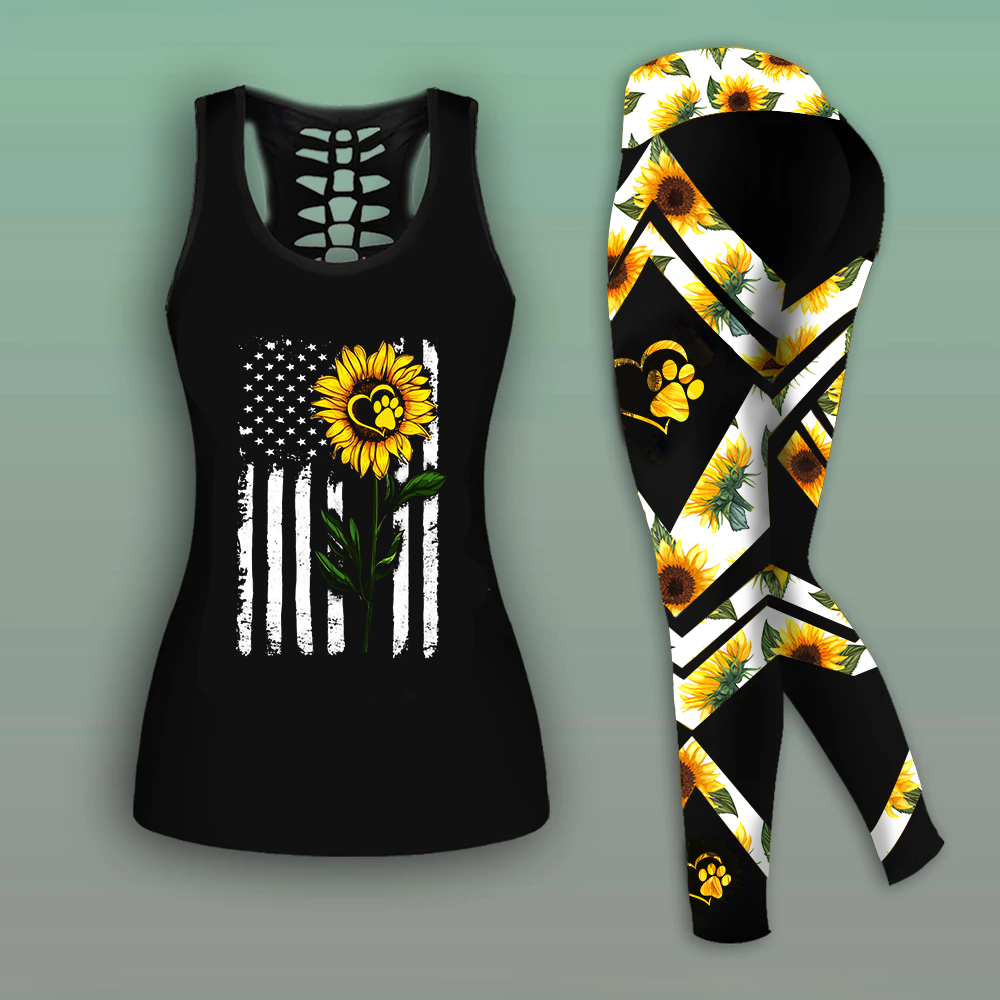 Special Combo Sunflower Tank Top And Legging
