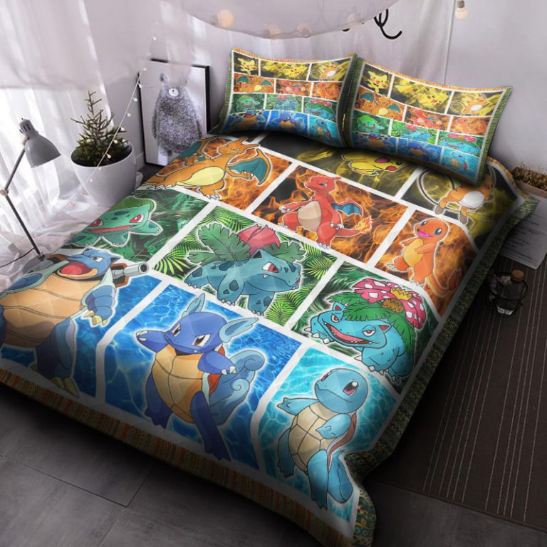 Pokemon HPV1102P Quilt Bed Set