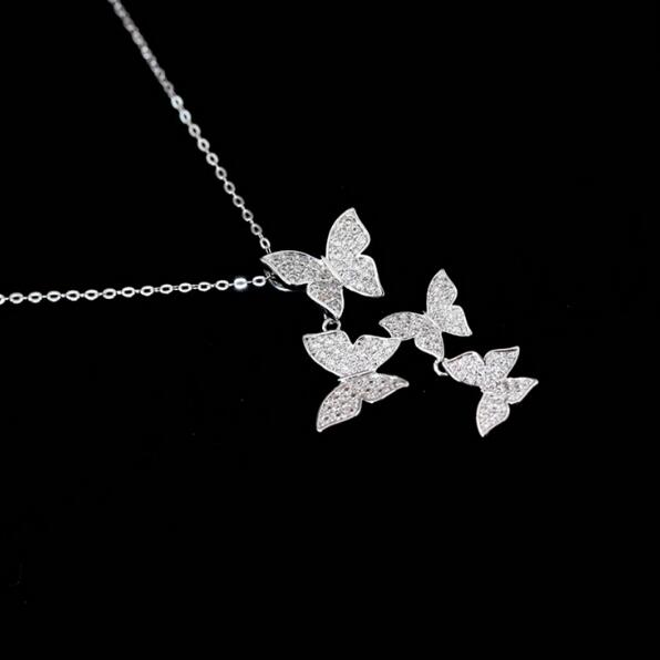 Zircon Butterfly Necklace