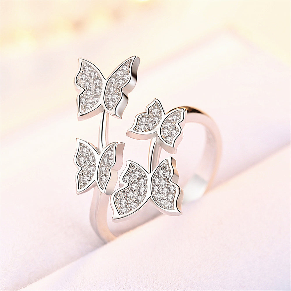 Zircon Butterfly Rings