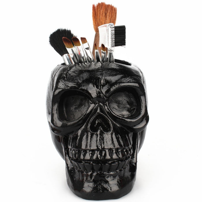 Skull Ornament Stationery Holder