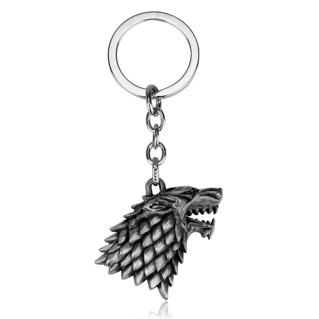 The Game of Thrones Targaryen Dragon Logo Keychain