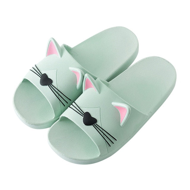 Home Indoors Slippers Cartoon Cat Floor