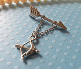Arrow with Bow and Arrow  Ring 14ga 1 SET - BodyDazzles