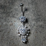 Beautiful Big Bang Atomic Belly Button Ring 14ga Navel Ring Body Jewelry Dangling - BodyDazzles