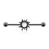 Sun Industrial Barbell Blackline Dazzling 14ga Scaffold Bar Body Jewelry - BodyDazzle - 2
