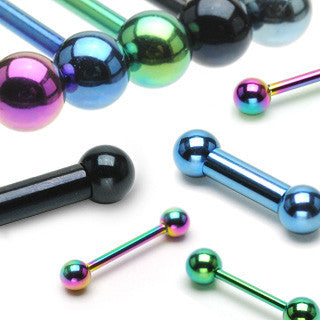 "Industrial Barbell Colored Barbell Body Jewelry Surgical Steel Body Piercing 1 1/2"" - BodyDazzle"