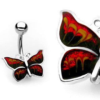 Butterfly Belly Ring Navel Ring Body Jewelry Belly Piercing - BodyDazzle