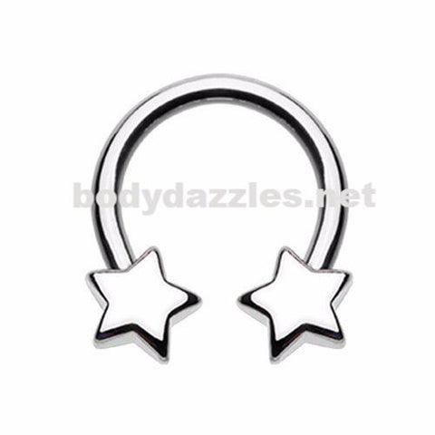 Star Horseshoe Circular Barbell Cartilage Tragus Nipple Ring Nipple Bar 16ga 14ga