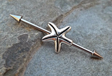 Star Fish Industrial Barbell 14ga Body Jewelry Ear Jewelry Double Piercing 316L Surgical Stainless Steel - BodyDazzle - 1