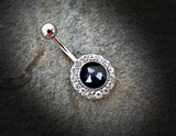 Mother of Pearl Belly Ring Silver Navel Ring Body Jewelry Piercing Jewelry - BodyDazzle - 1