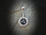 Mother of Pearl Belly Ring Silver Navel Ring Body Jewelry Piercing Jewelry - BodyDazzle - 2