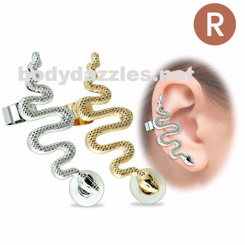 Snake Designed 316L Surgical Steel Earring Cuff (Right Side)