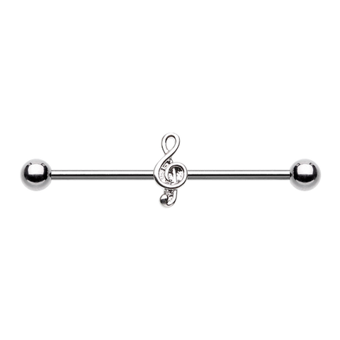 Industrial Barbell Music Note  Ear Body Jewelry