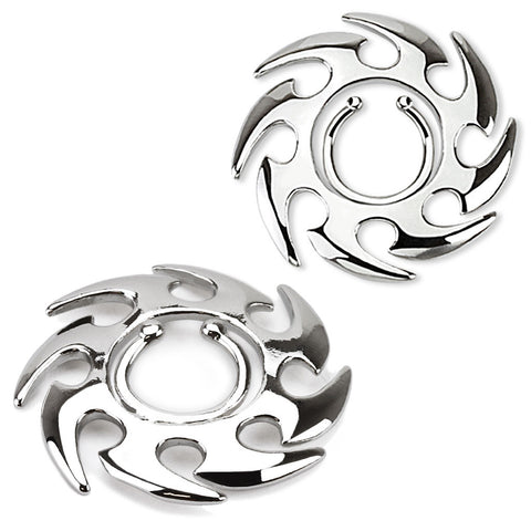 Tribal Swirl Clip On Nipple Ring Silver Nipple Jewelry - BodyDazzle