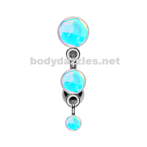 Triple Revo Reverse Belly Button Ring Navel Ring 14ga Surgical Steel