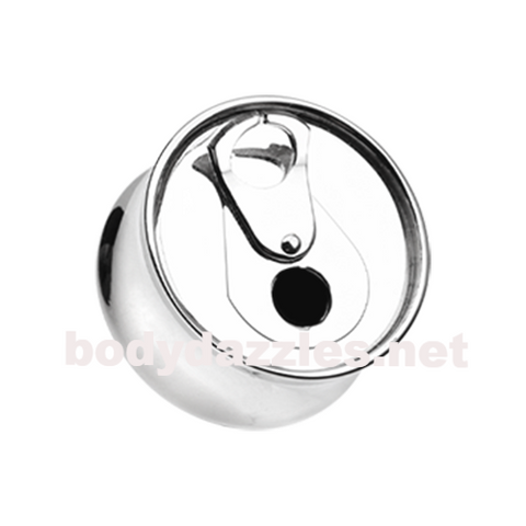Soda Pop Can Double Flared Ear Gauge Plug Body Jewelry - BodyDazzle