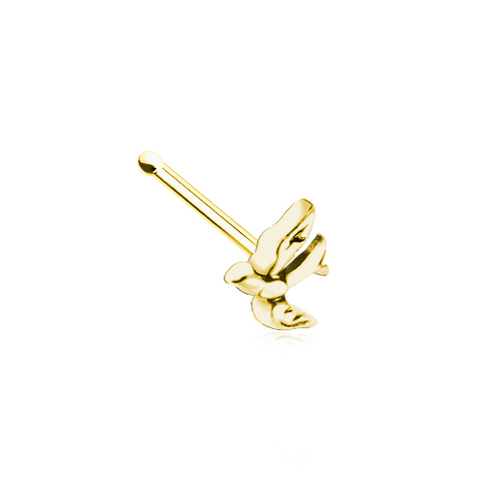 Swallow Bird Golden Nose Stud Ring Nose Bone 20ga Body Jewelry - BodyDazzle
