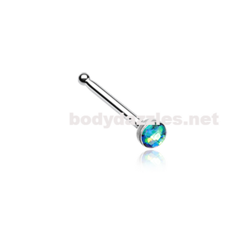 Green Opal Sparkle Nose Stud Ring Nose Ring  20ga Body Jewelry Surgical Steel - BodyDazzle
