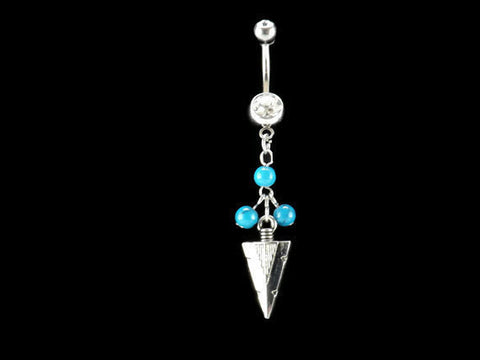 Arrow Belly Ring Turquoise beads Navel Ring Body Jewelry - BodyDazzle