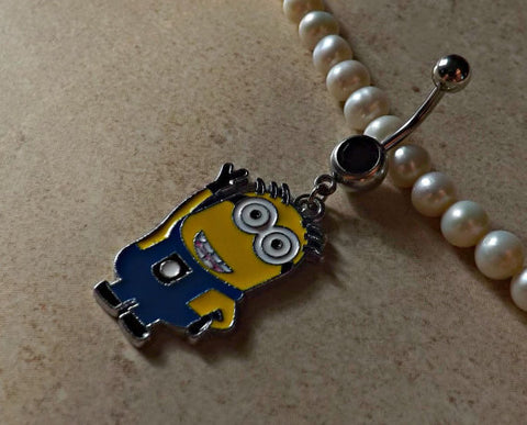 DESPICABLE ME MINION Waving Belly Ring Navel Ring Body Jewelry - BodyDazzle