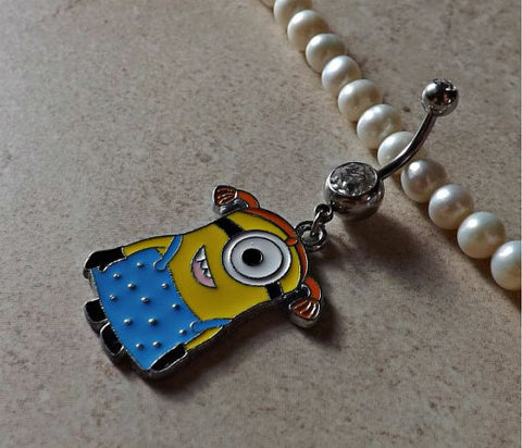 DESPICABLE ME MINION Dressed Up Belly Ring Navel Ring Body Jewelry - BodyDazzle - 1