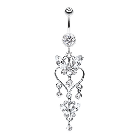 Butterfly Extravagance Belly Button Ring Navel Ring Body Jewelry - BodyDazzle