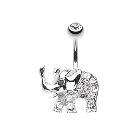 Baby Elephant Walk Belly Button Ring Navel Ring Body Jewelry - BodyDazzle