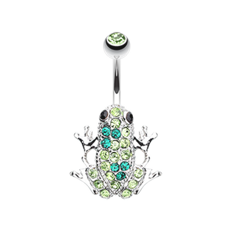 Amazon Frog Multi-Gem Belly Button Ring Navel Ring Body Jewelry - BodyDazzles