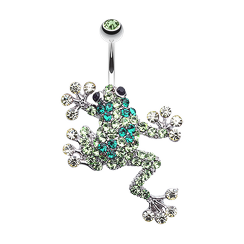 Sparkle Leaping Frog Belly Button Ring Navel Ring Body Jewelry - BodyDazzle